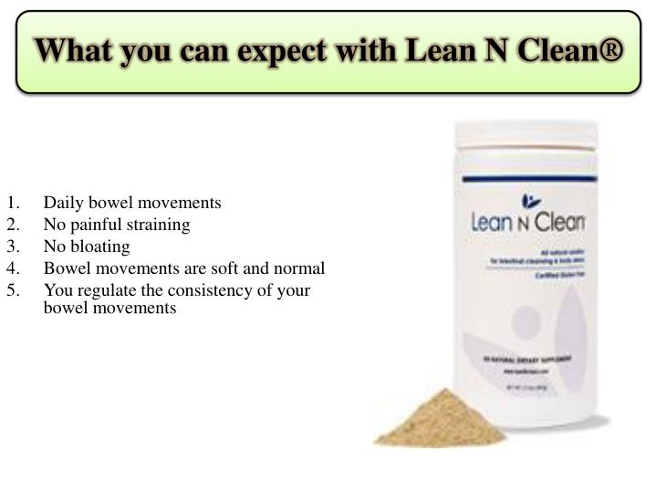 What you can expect with lean n clean