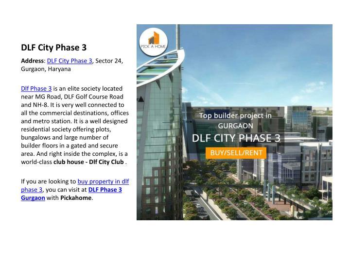 DLF City Phase 3