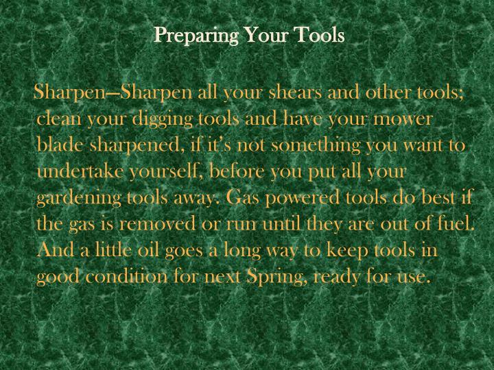 Preparing Your