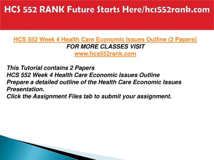 HCS 552 RANK Future Starts Here/hcs552rank.com