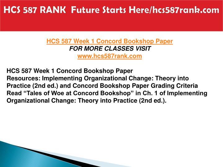 HCS 587 RANK  Future Starts Here/hcs587rank.com