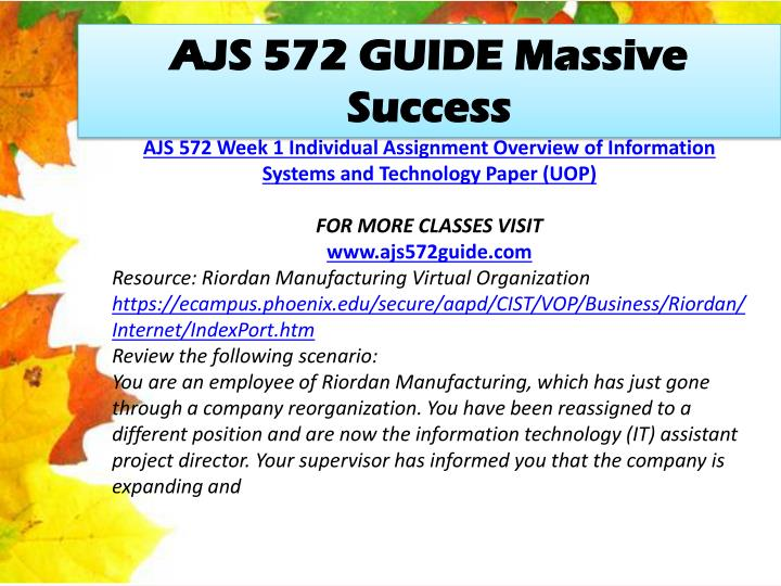 AJS 572 GUIDE Massive Success