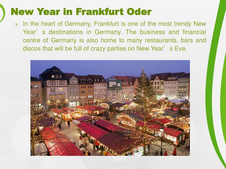 New Year in Frankfurt Oder