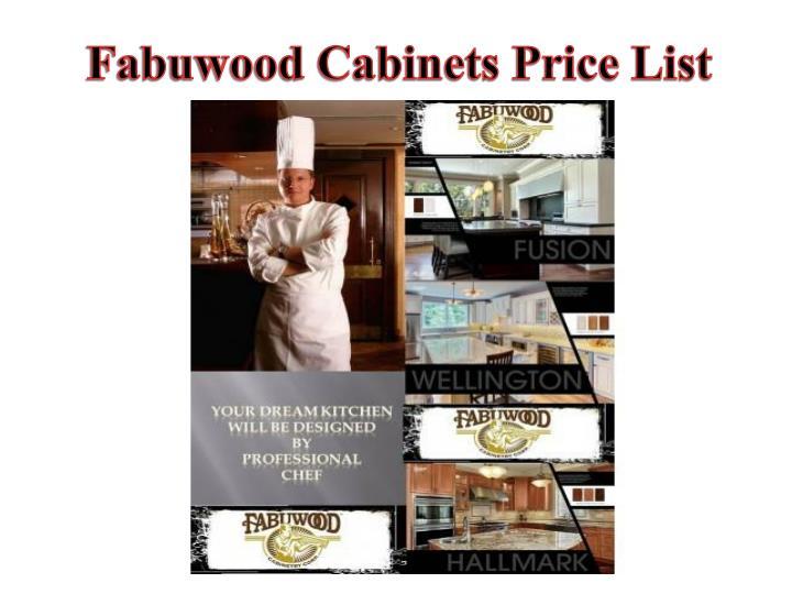 Fabuwood Cabinets Price List