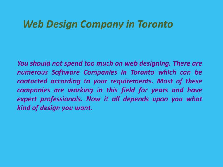 Web Design Company in Toronto