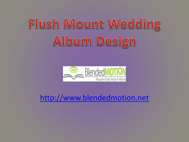 Flush mount wedding album design