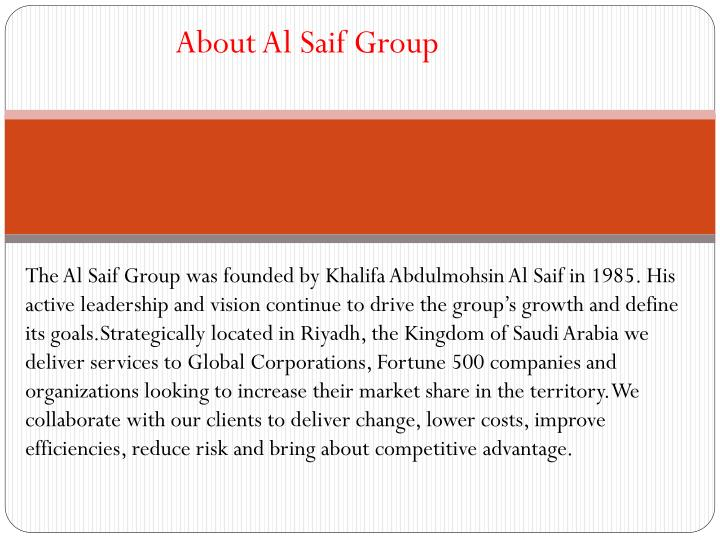 About Al Saif Group
