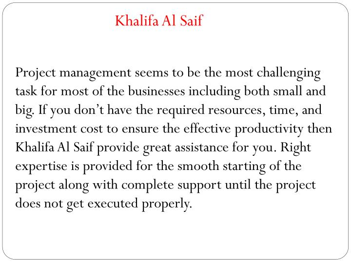 Khalifa Al Saif