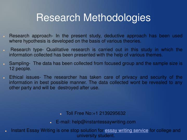 Research Methodologies