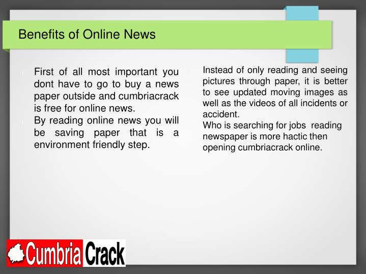 Benefits of Online News