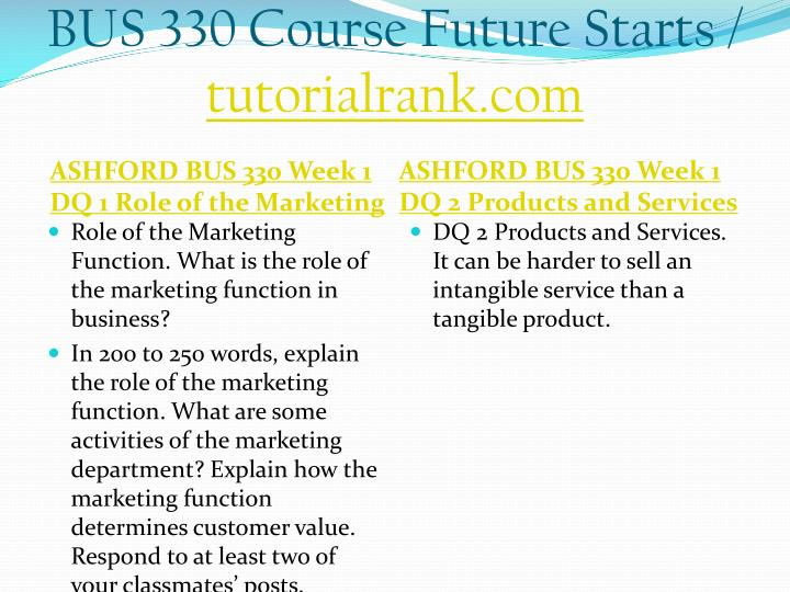Bus 330 course future starts tutorialrank com2