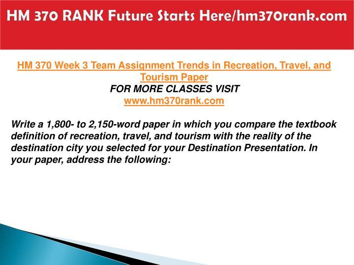 HM 370 RANK Future Starts Here/hm370rank.com