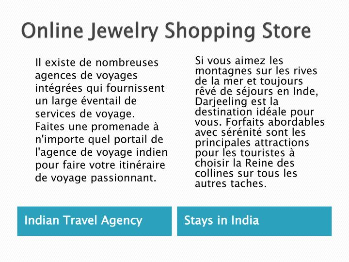 Online Jewelry Shopping Store