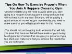 tips on how to exercise properly when you join a hoppers crossing gym3