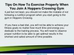 tips on how to exercise properly when you join a hoppers crossing gym5