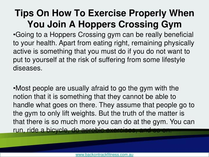 Tips on how to exercise properly when you join a hoppers crossing gym1