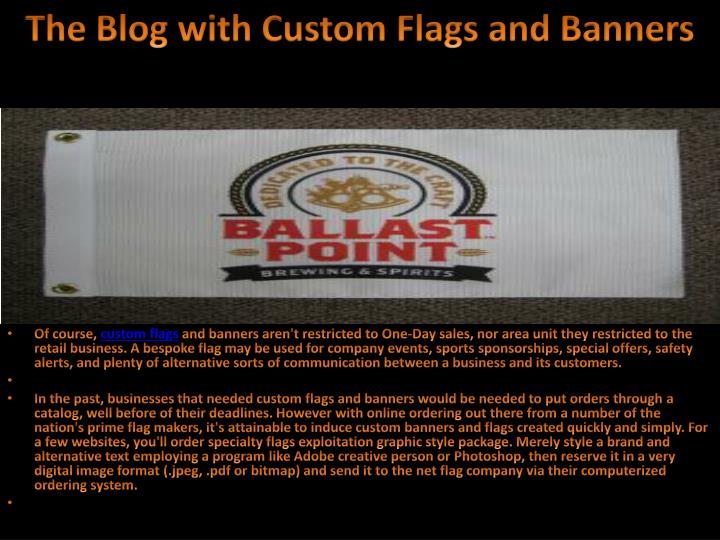 The blog with custom flags and banners