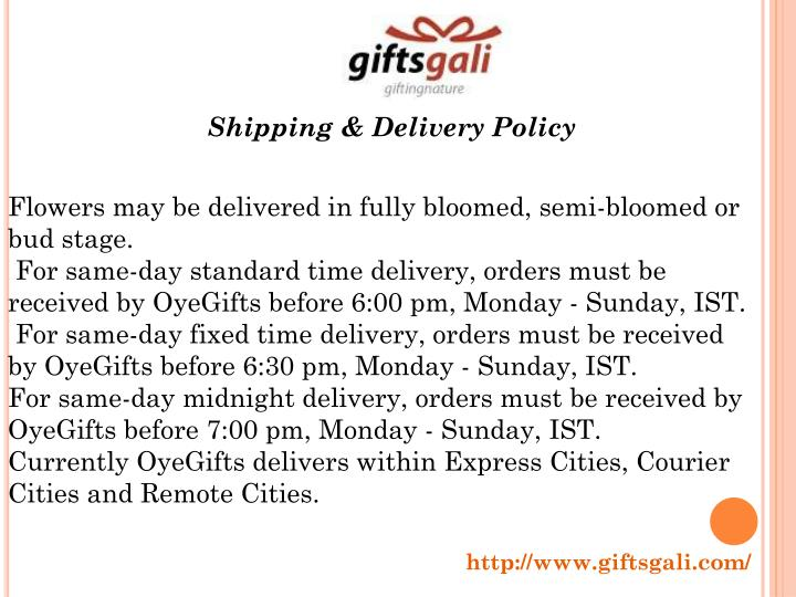Shipping & Delivery Policy