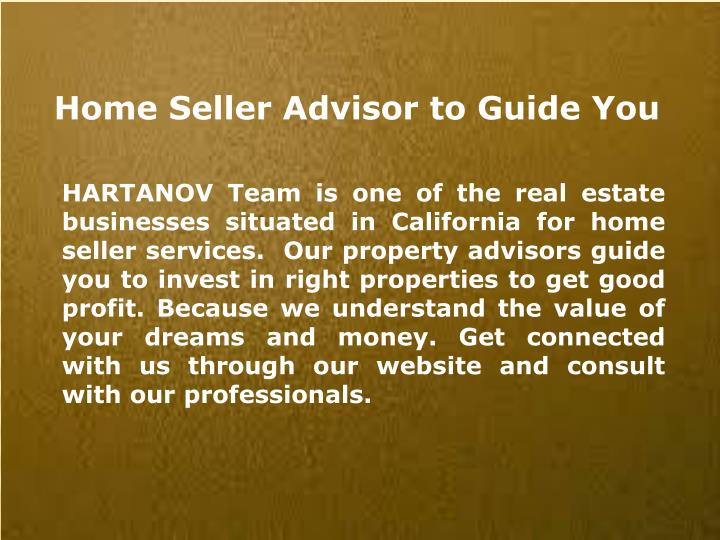 Home Seller Advisor to Guide You
