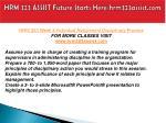 hrm 323 assist future starts here hrm323assist com12