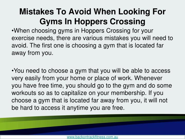 Mistakes to avoid when looking for gyms in hoppers crossing2