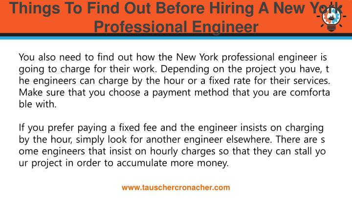 Things To Find Out Before Hiring A New York Professional Engineer