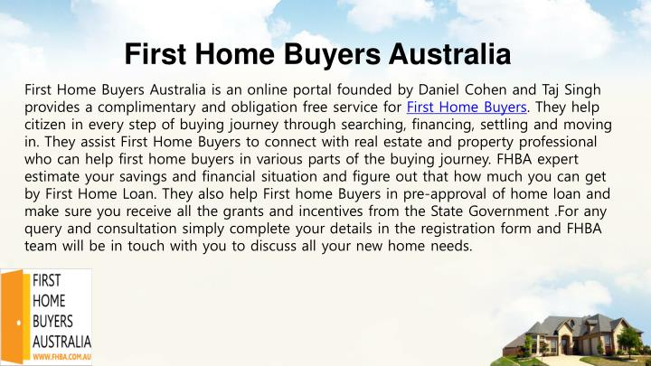 First home buyers australia