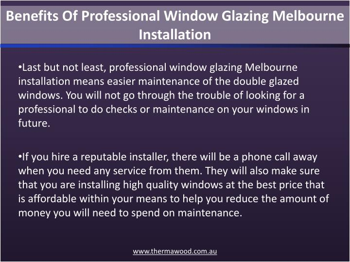 Benefits Of Professional Window Glazing Melbourne Installation