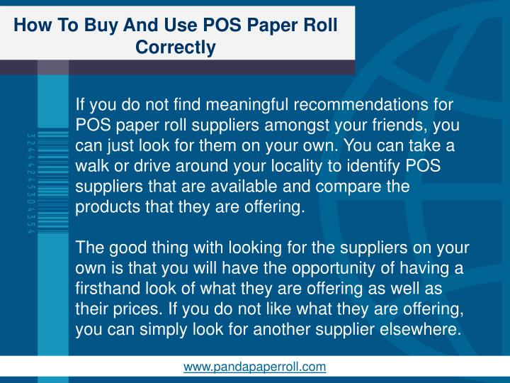 How To Buy And Use POS Paper Roll Correctly