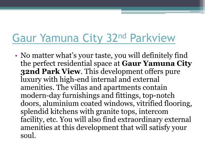 Gaur Yamuna City 32
