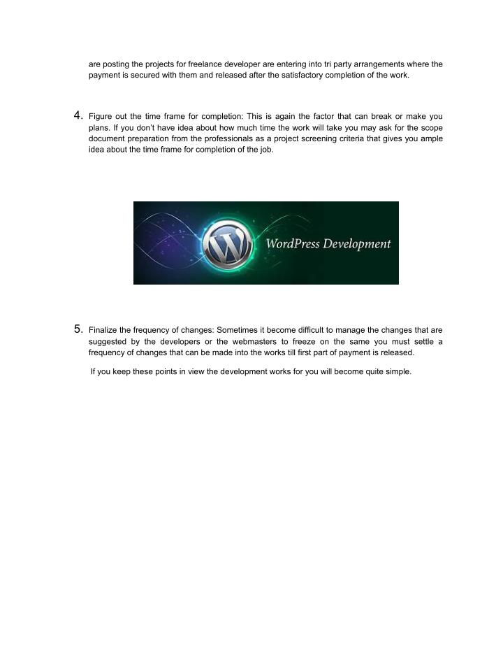 are posting the projects for freelance developer are entering into tri party arrangements where the