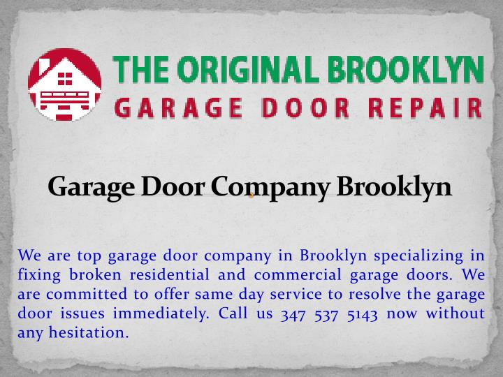 Garage Door Company Brooklyn