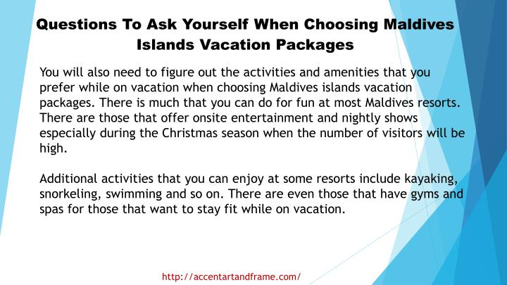 Questions To Ask Yourself When Choosing Maldives Islands Vacation Packages