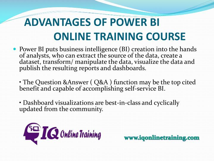 ADVANTAGES OF POWER BI