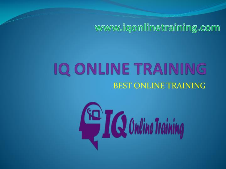 Iq online training