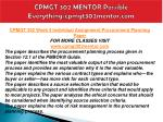 cpmgt 302 mentor possible everything cpmgt302mentor com14