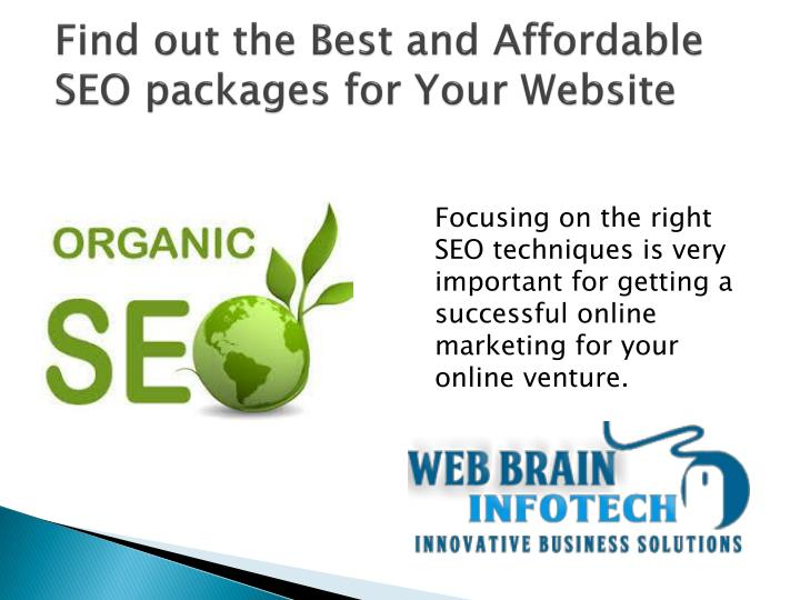 Find out the best and affordable seo packages for your website
