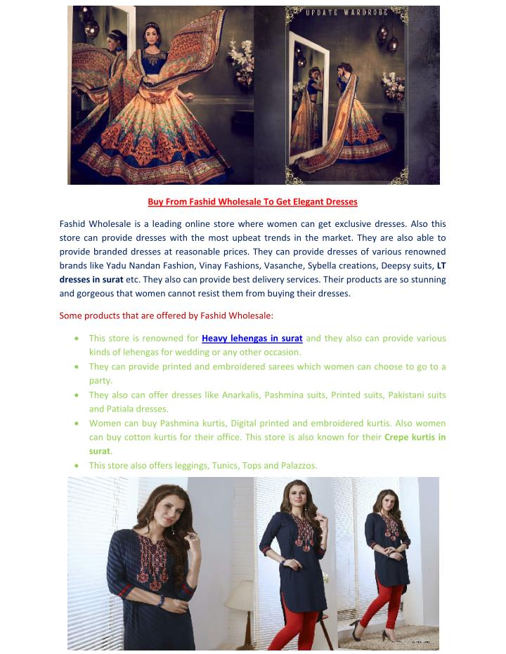 Buy From Fashid Wholesale To Get Elegant Dresses