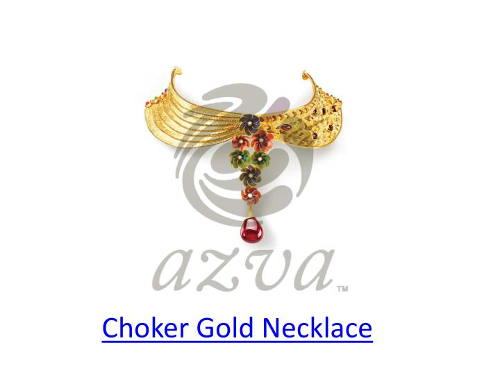 Choker gold necklace