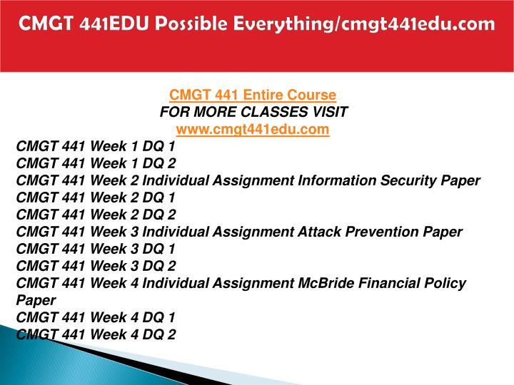 Cmgt 441edu possible everything cmgt441edu com1