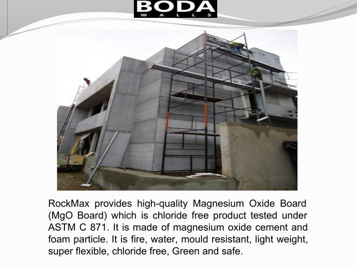 RockMax provides high-quality Magnesium Oxide Board