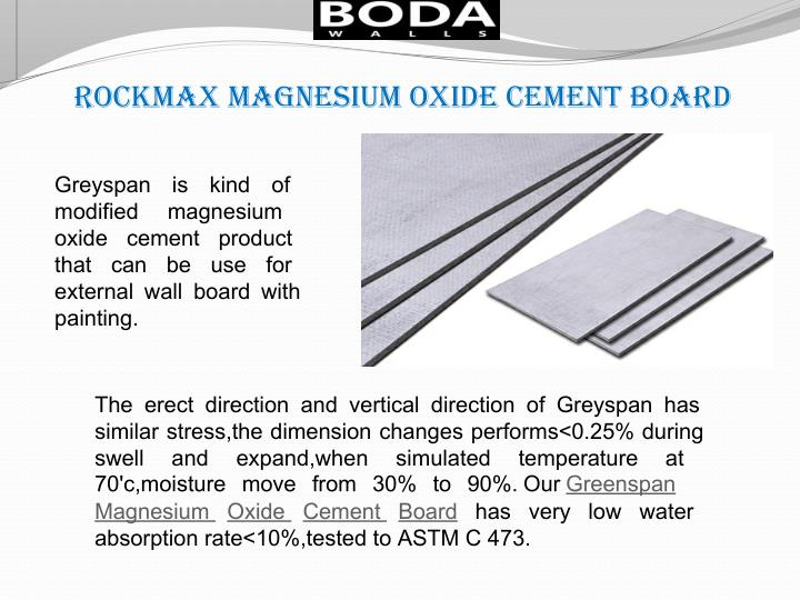 rockmax magnesium oxide cement board