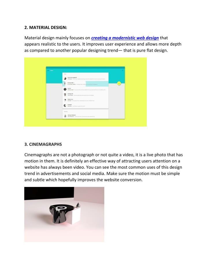 2. MATERIAL DESIGN:
