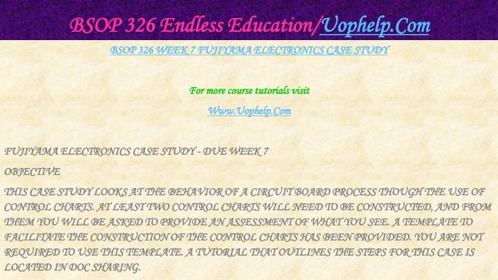 BSOP 326 Endless Education/