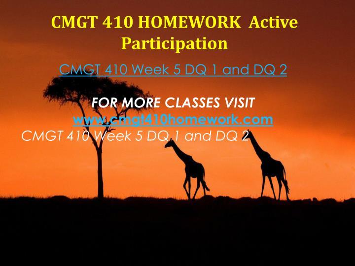 CMGT 410 HOMEWORK