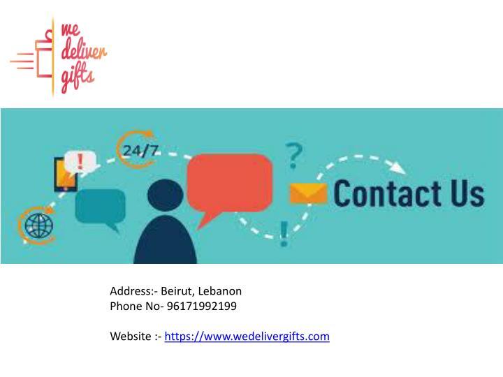 Address:- Beirut, Lebanon