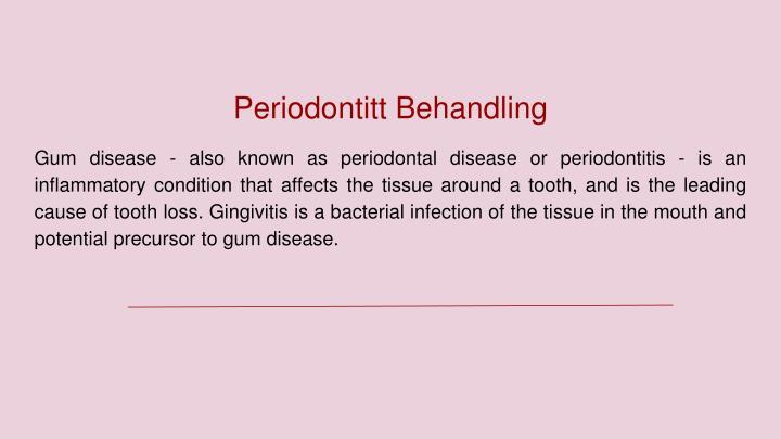 Periodontitt Behandling