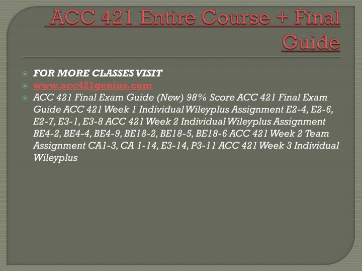 Acc 421 entire course final guide