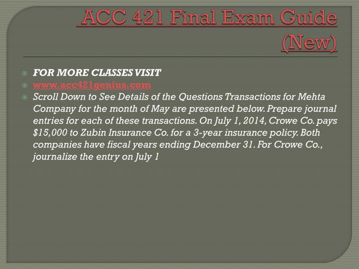 Acc 421 final exam guide new