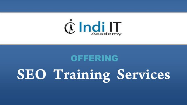 SEO  Training  Services